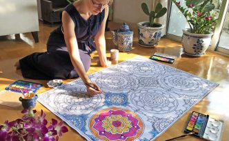 Hattifant's GIANT Mandala Carpet Poster to Color
