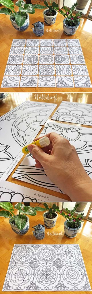 Hattifant's GIANT Mandala Carpet Poster to Color How To