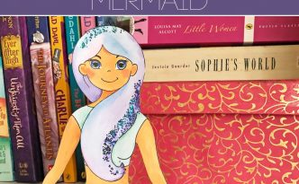 Hattifant's Shelf Sitter Mermaid Sparkle Coloring Page Paper Craft