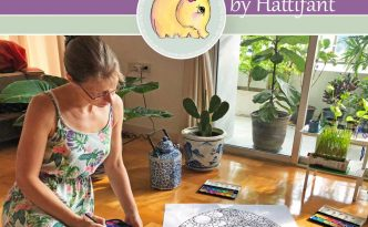 Hattifant's Giant Poster Flower filled Easter Egg to color