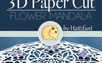 Hattifant's 3D Papercut Paper Cut Flower Mandala Pin Me