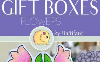Hattifant's FLower Gift Boxes for Easter Bunny Shelf Sitters