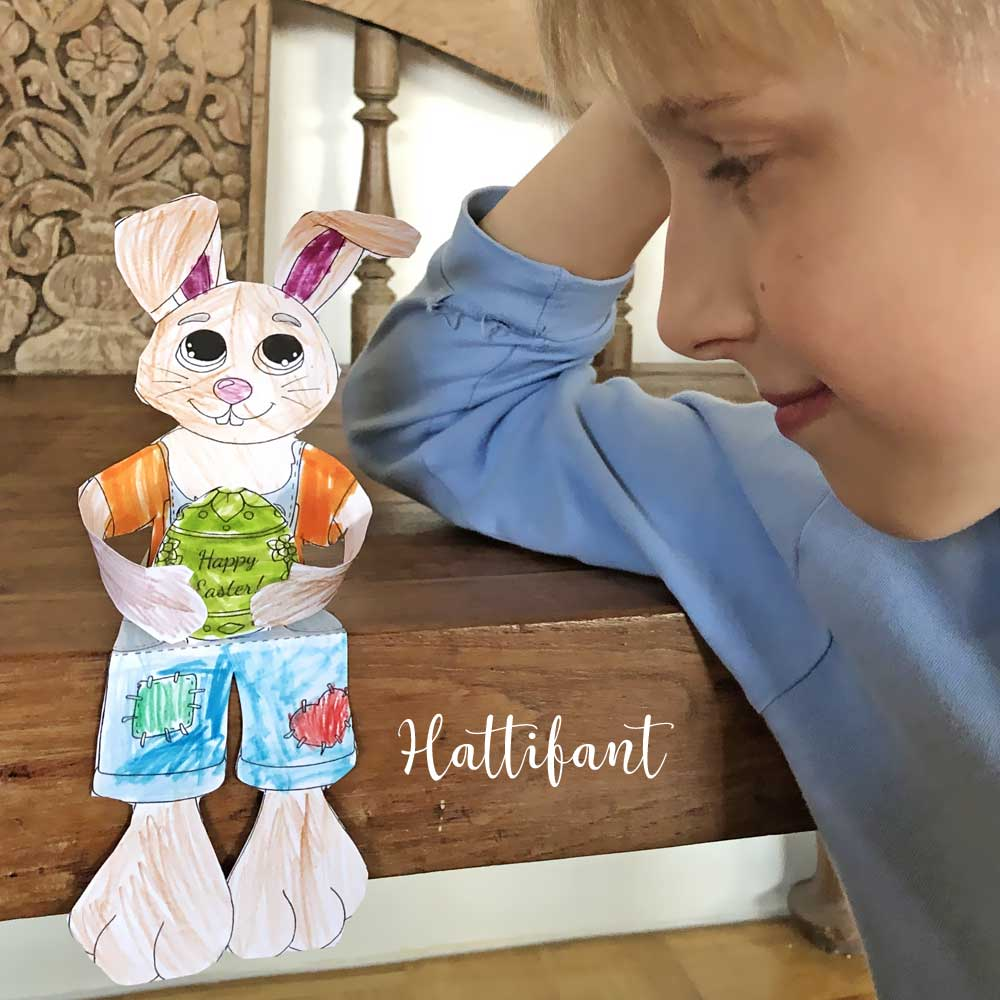 Hattifant's Easter Bunny Shelf Sitters to color sample