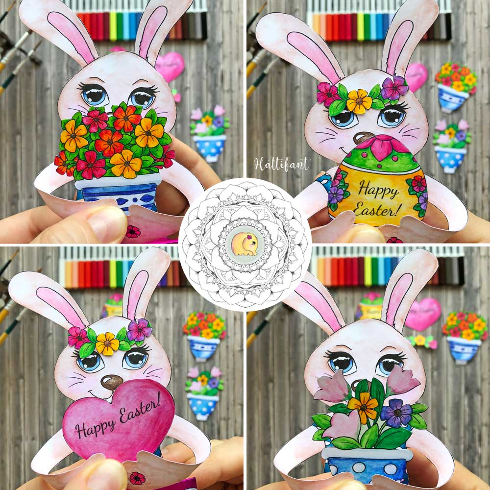 Hattifant's Easter Bunny Shelf Sitters to color accessories