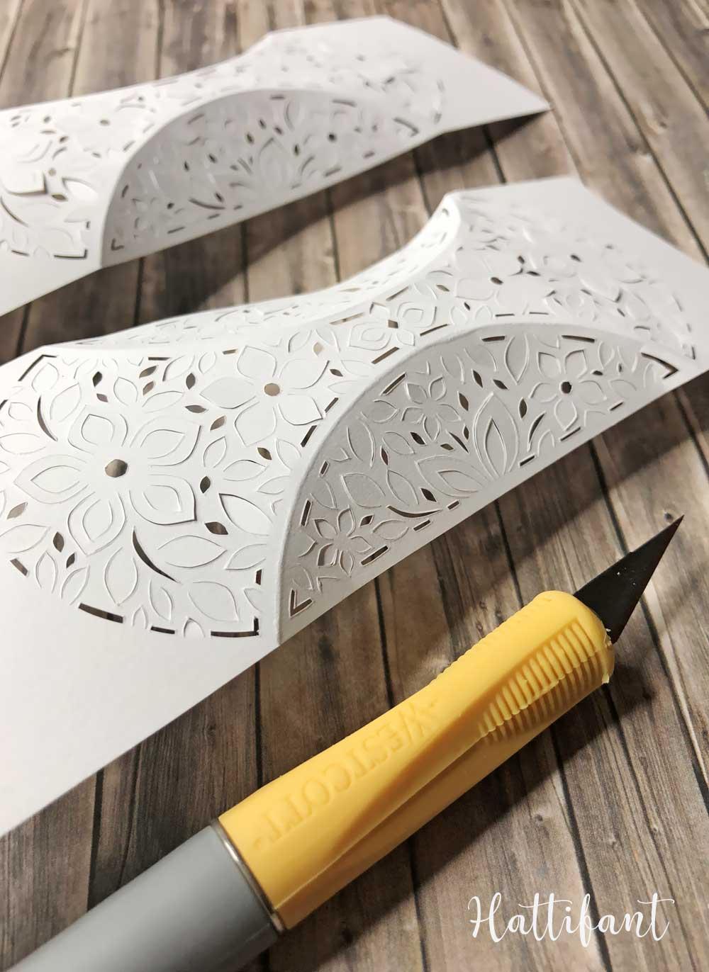 Hattifant's 3D Papercut Paper Cut 3D Flower Triskele Paper Globe WIP