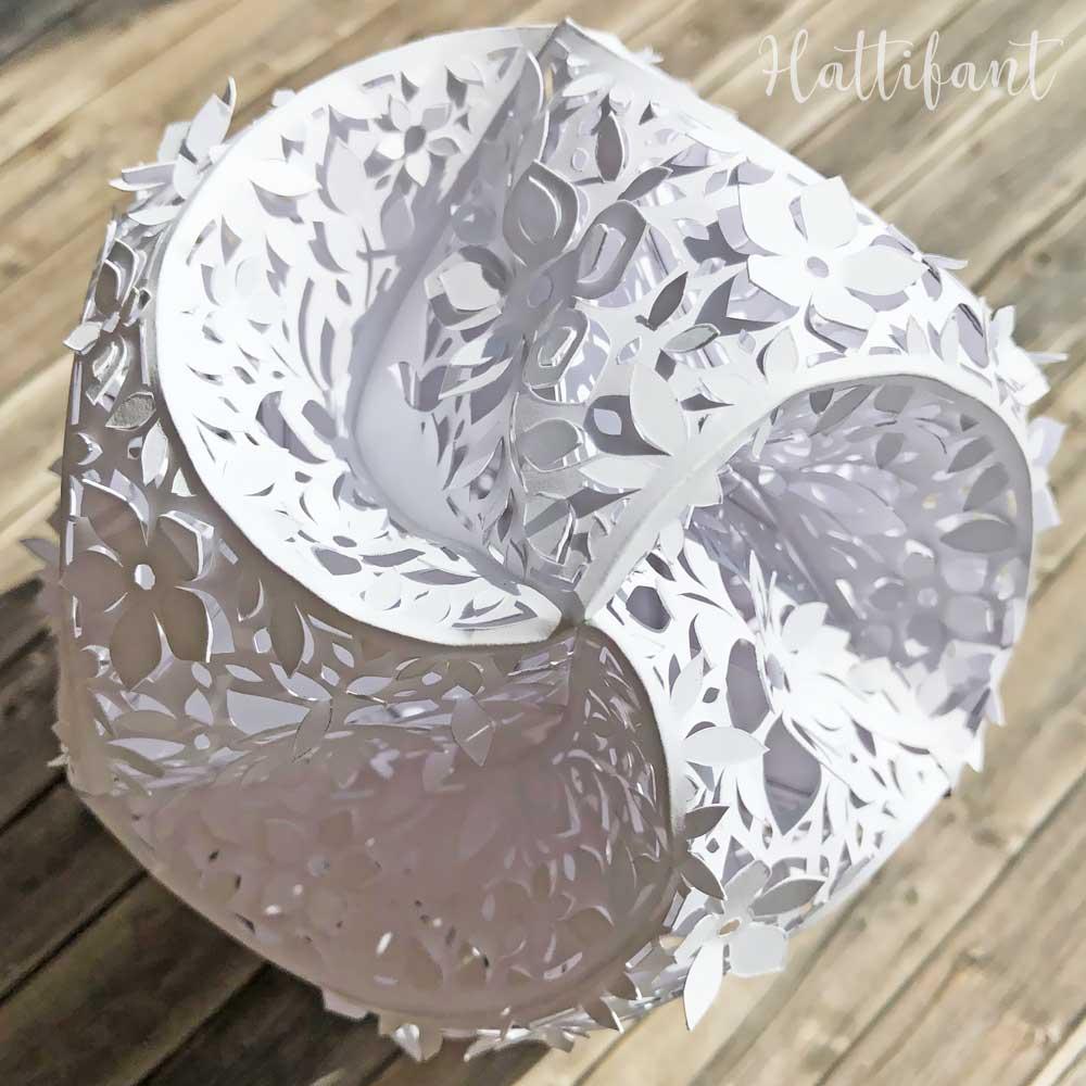 Hattifant's 3D Papercut Paper Cut 3D Flower Triskele Paper Globe 2