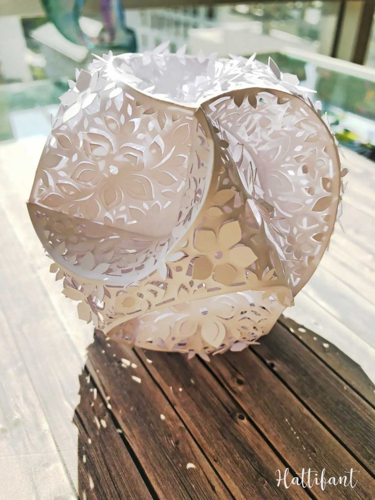Hattifant's 3D Papercut Paper Cut 3D Flower Triskele Paper Globe 3