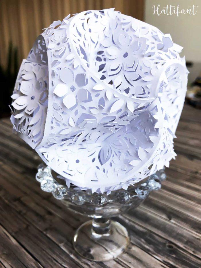 Hattifant 3d Paper Cut Papercut Triskele Paper Globe