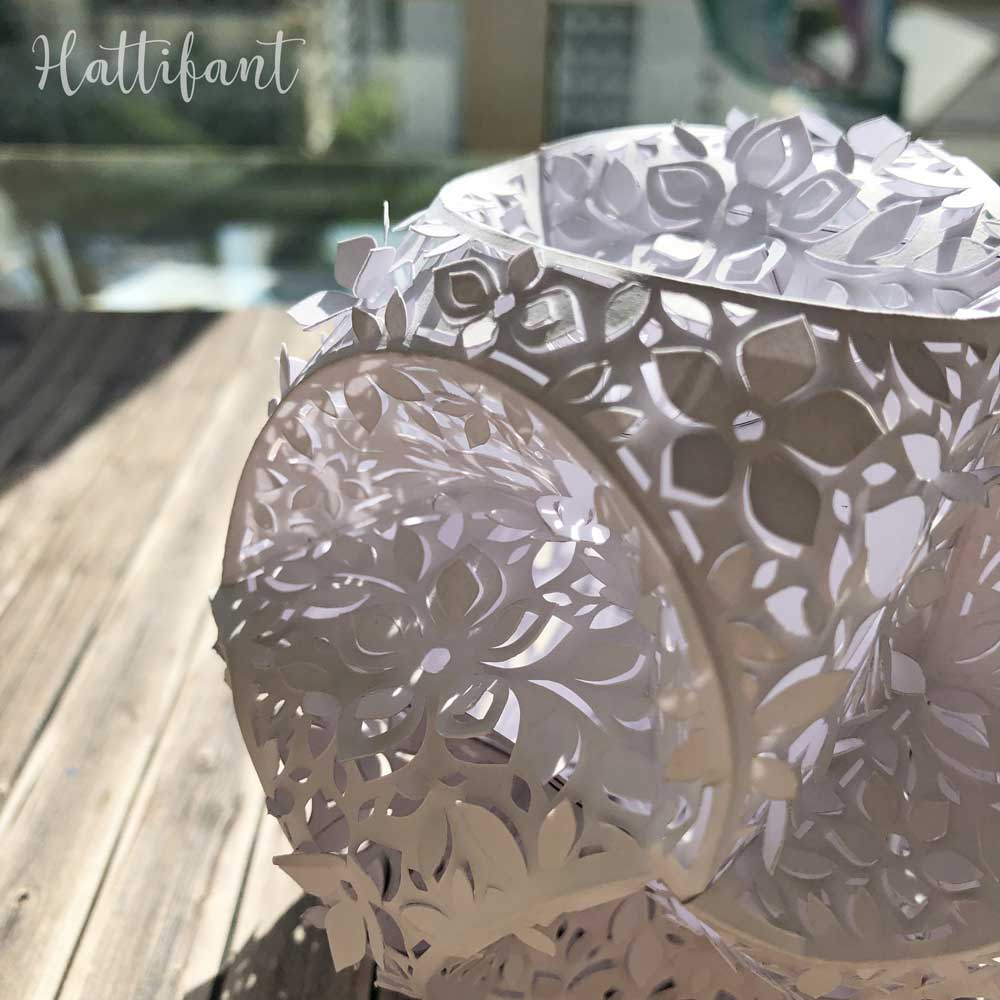 Hattifant's 3D Papercut Paper Cut 3D Flower Triskele Paper Globe 1