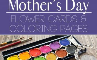 Hattifant's Mother's Day Flower Cards and Coloring Pages