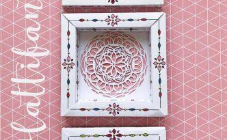 Hattifant's 3D Paper Cut 3D Frame Set Spring Feel Pin3