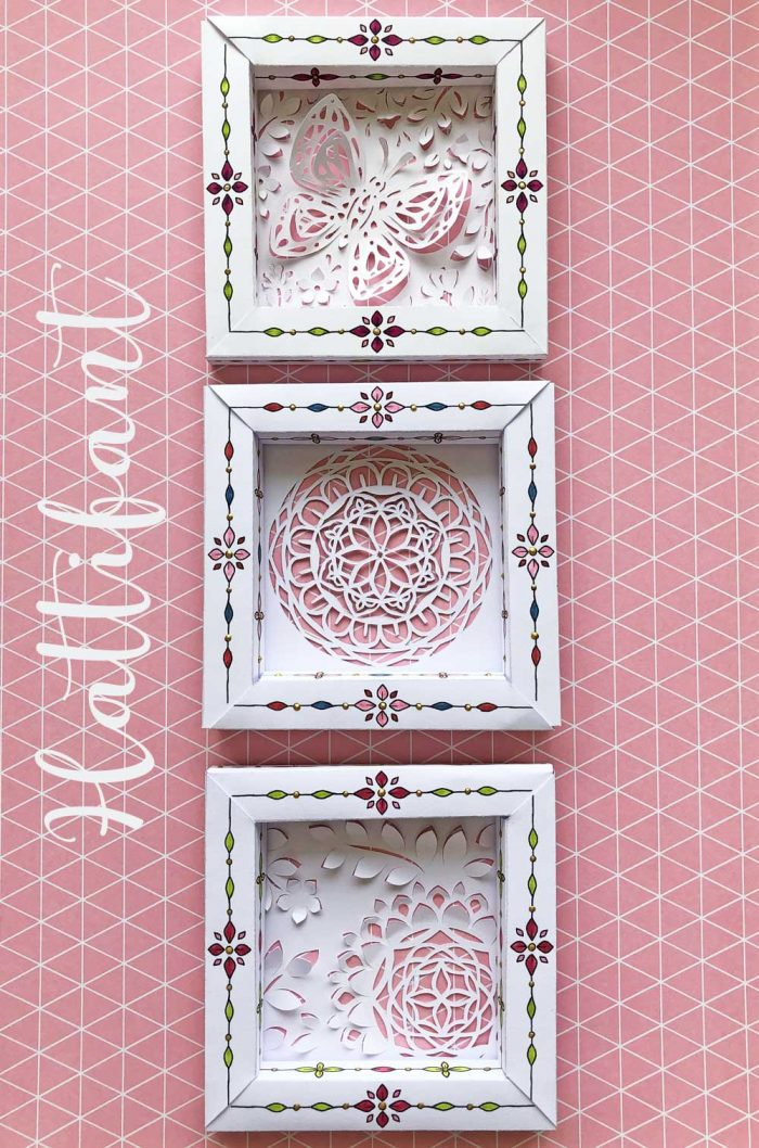 Hattifant's 3D Paper Cut 3D Frame Set Spring Feel Pin3