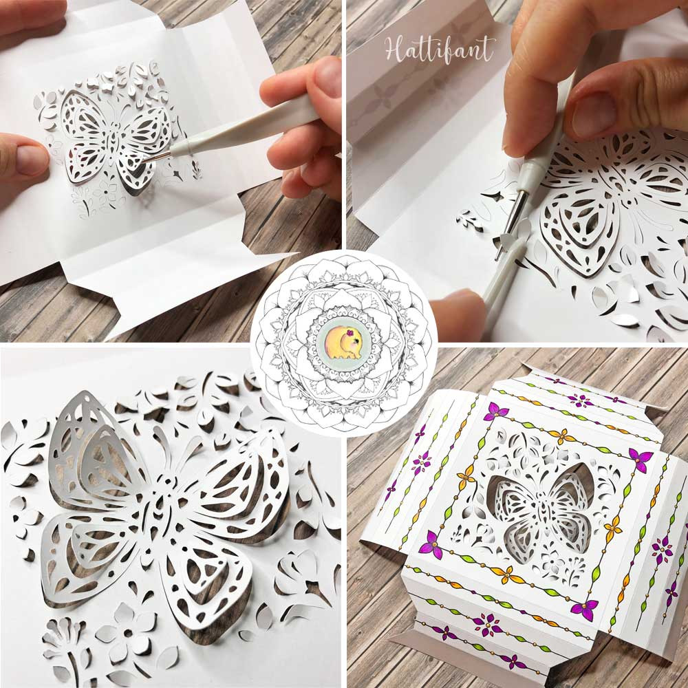 Hattifant's 3D Paper Cut 3D Frame Set Spring Feel WIP2