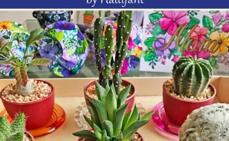 Hattifant's Mandala Flower Corner Bookmarks to Color Pin