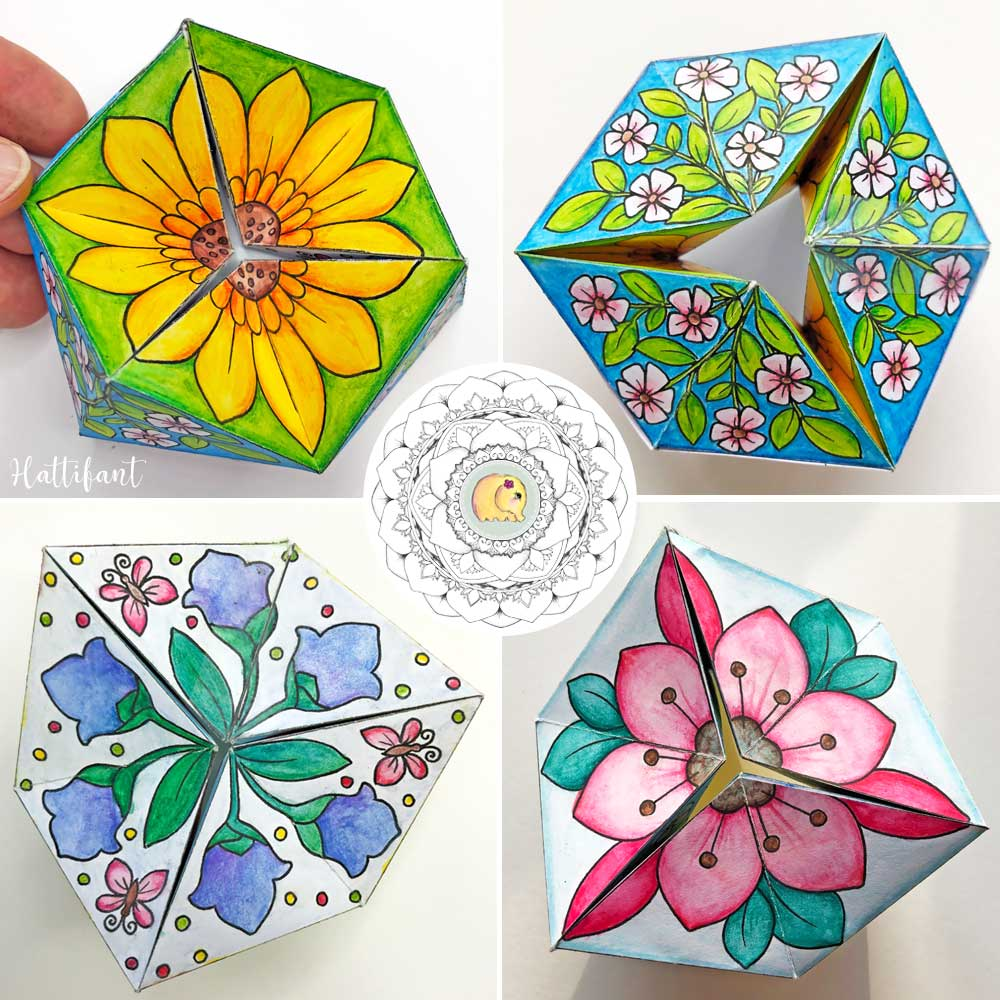 Hattifant-Paper-Craft-Toy-Kaleidocycle-Flextangle-Spring-4Sides ...