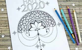 Hattifant's Timeless Mandalendar Calendar Blocks to Color Happy2020