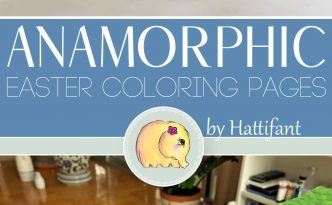 Hattifant's Anamorphic Easter Bunny Coloring Pages to DIY main
