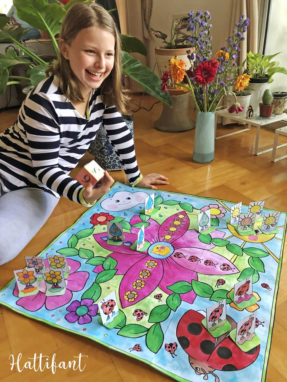 Hattifant's Giant Spring Board Game to Color and Play