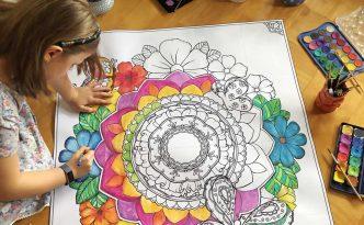 Hattifant's Giant Poster Spring Mandala to color in