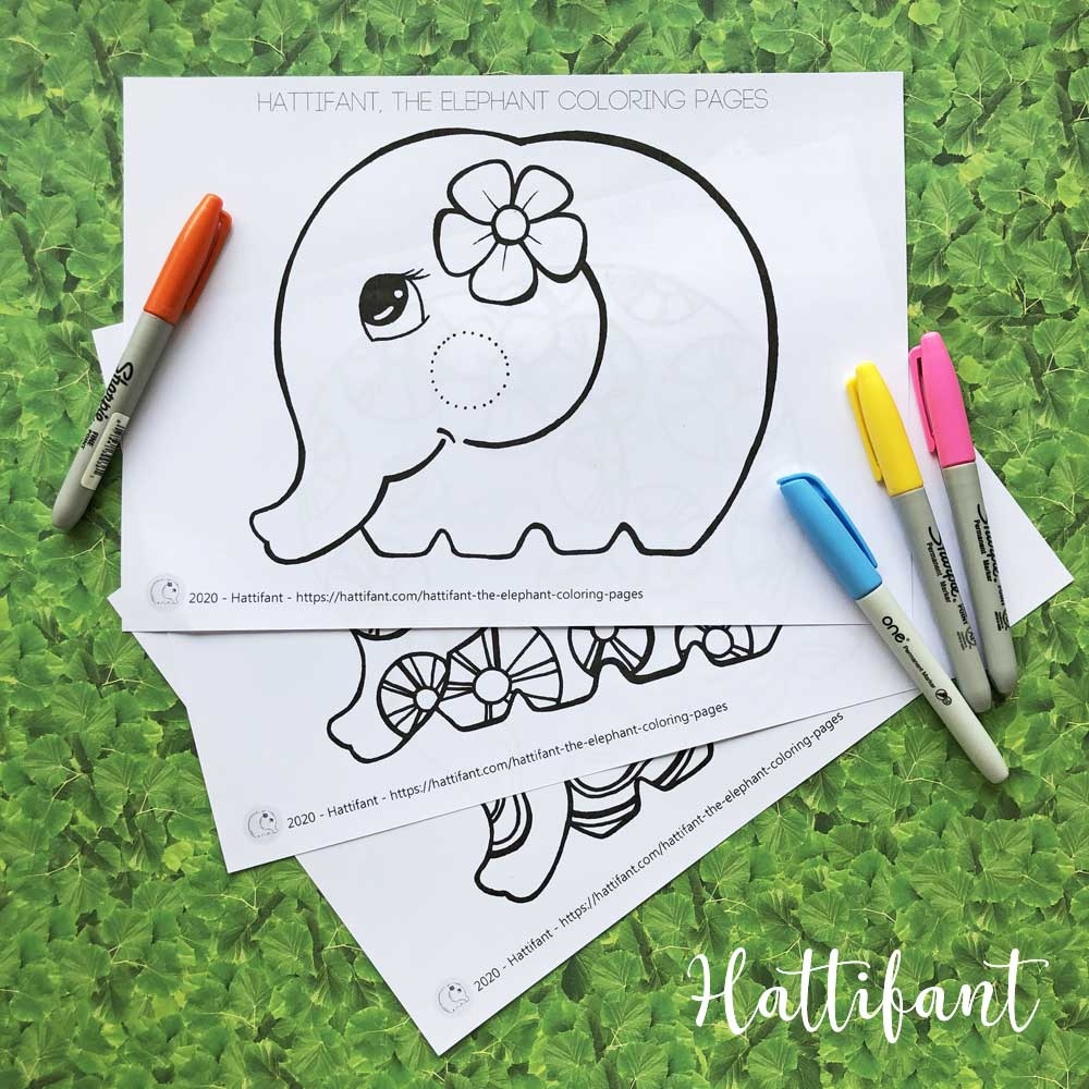 Hattifant's the elephant Coloring Pages samples