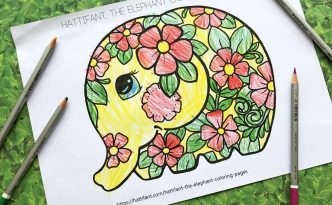 Hattifant's the elephant Coloring Pages