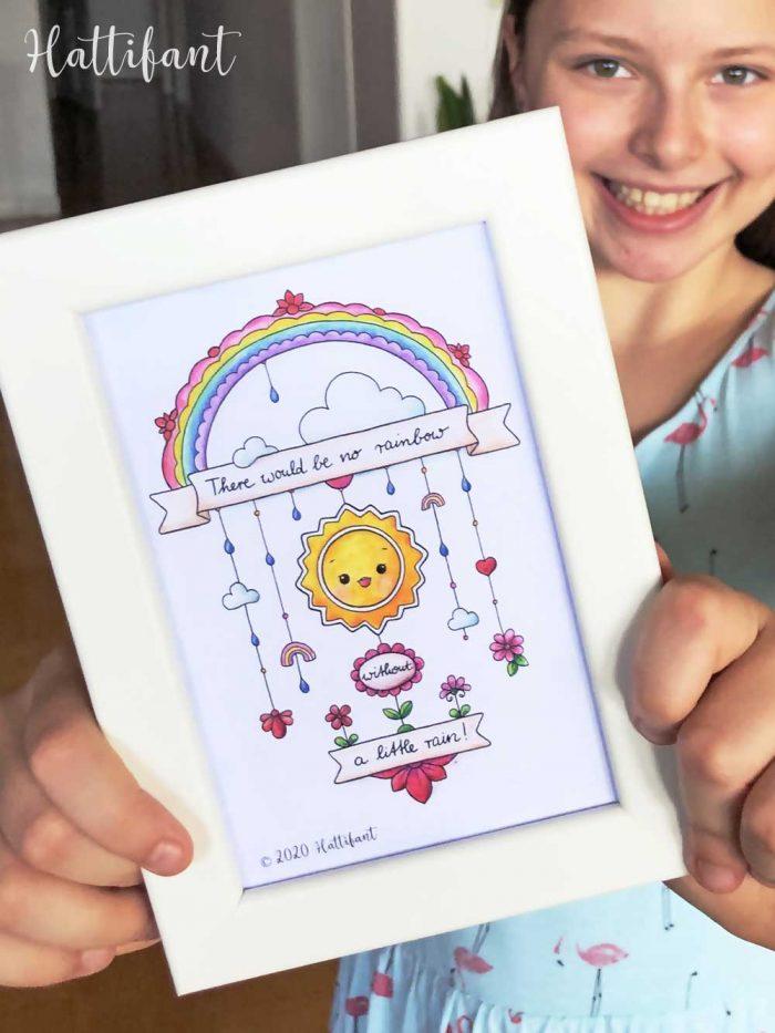 Hattifant's Inspiration Doodles to Color, frame and send framed portrait