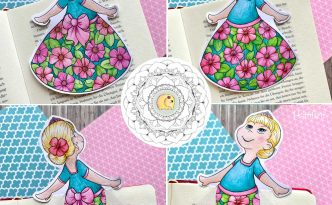 Hattifant's Spring Bookmark Princess in Tights to Color summary