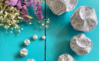 Hattifant's Triskele Paper Globe Challenge Pin