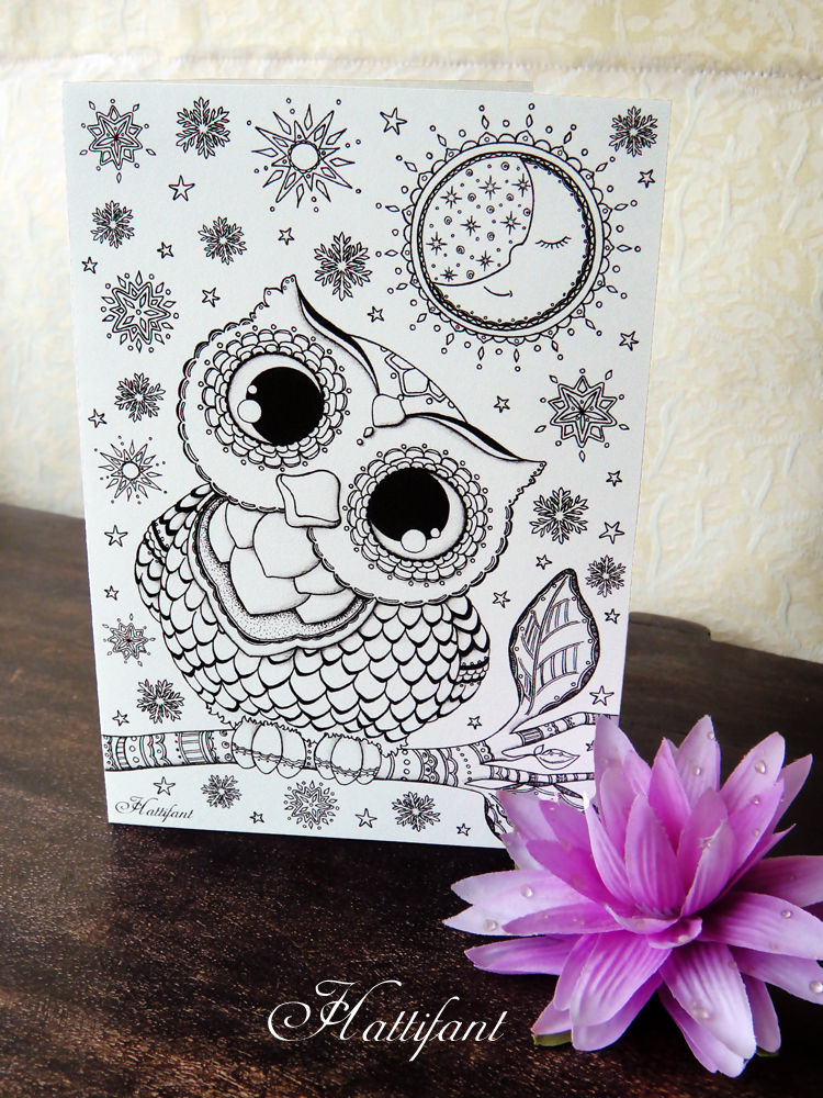 Hattifant's Baby Owl Foldable Card